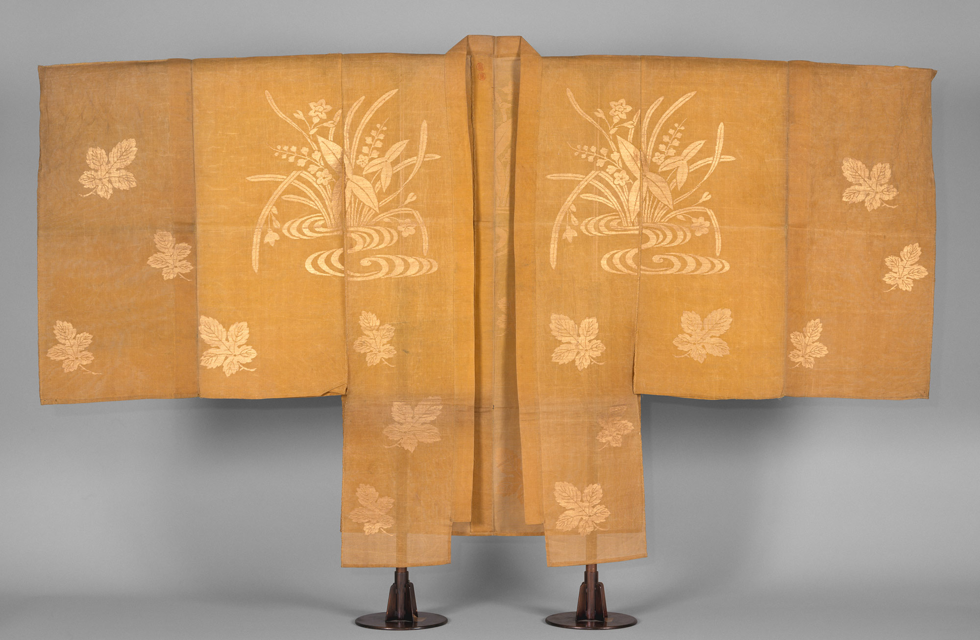 Noh Costume (Chōken) with Water Plants and Mulberry Leaves