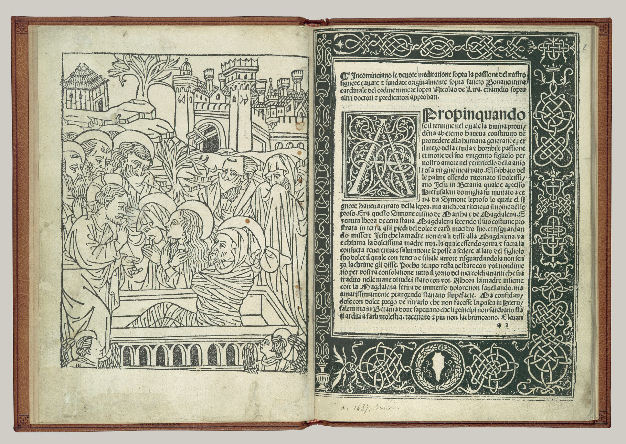 woodcut book illustration in renaissance the first le devote meditatione sopra la passione del nostro signore