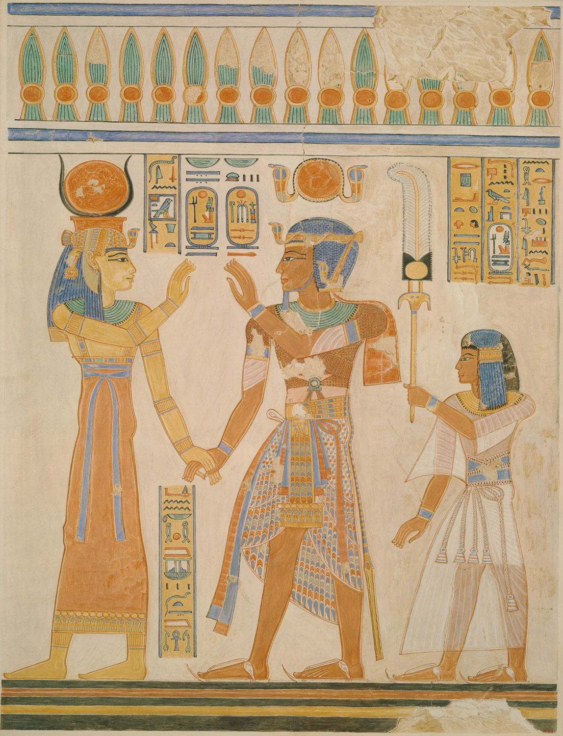 Osiris Wall Painting In Tomb Of Pharoah Horemheb