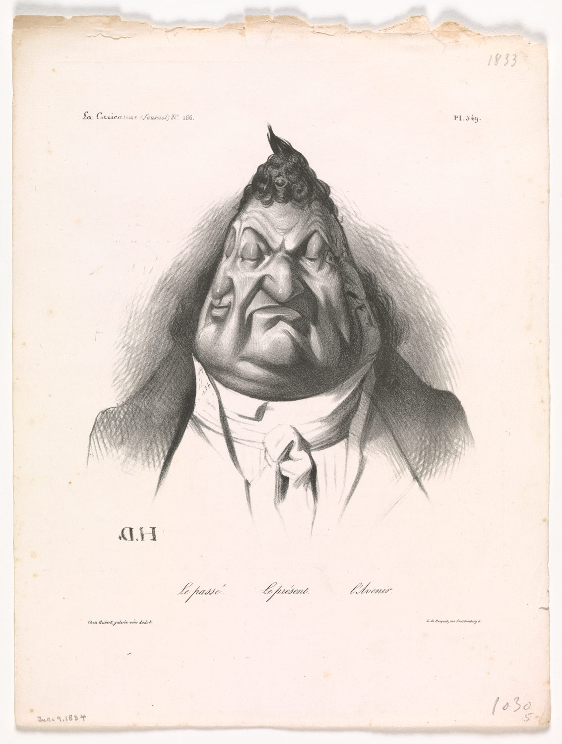 The Past, the Present, and the Future (Le passé – Le présent – LAvenir), published in La Caricature, no. 166, Jan. 9, 1834