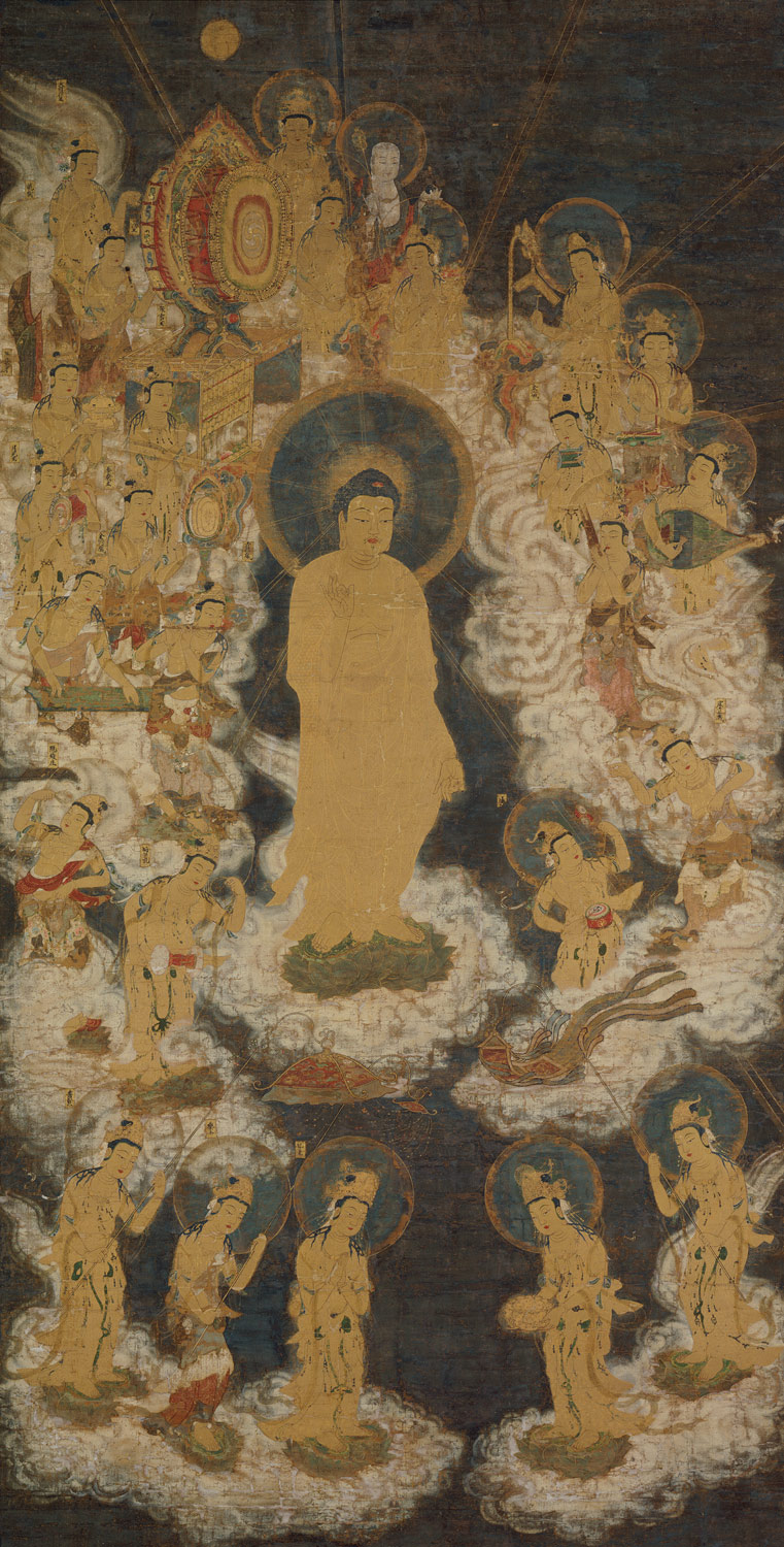 Welcoming Descent of Amida and Bodhisattvas