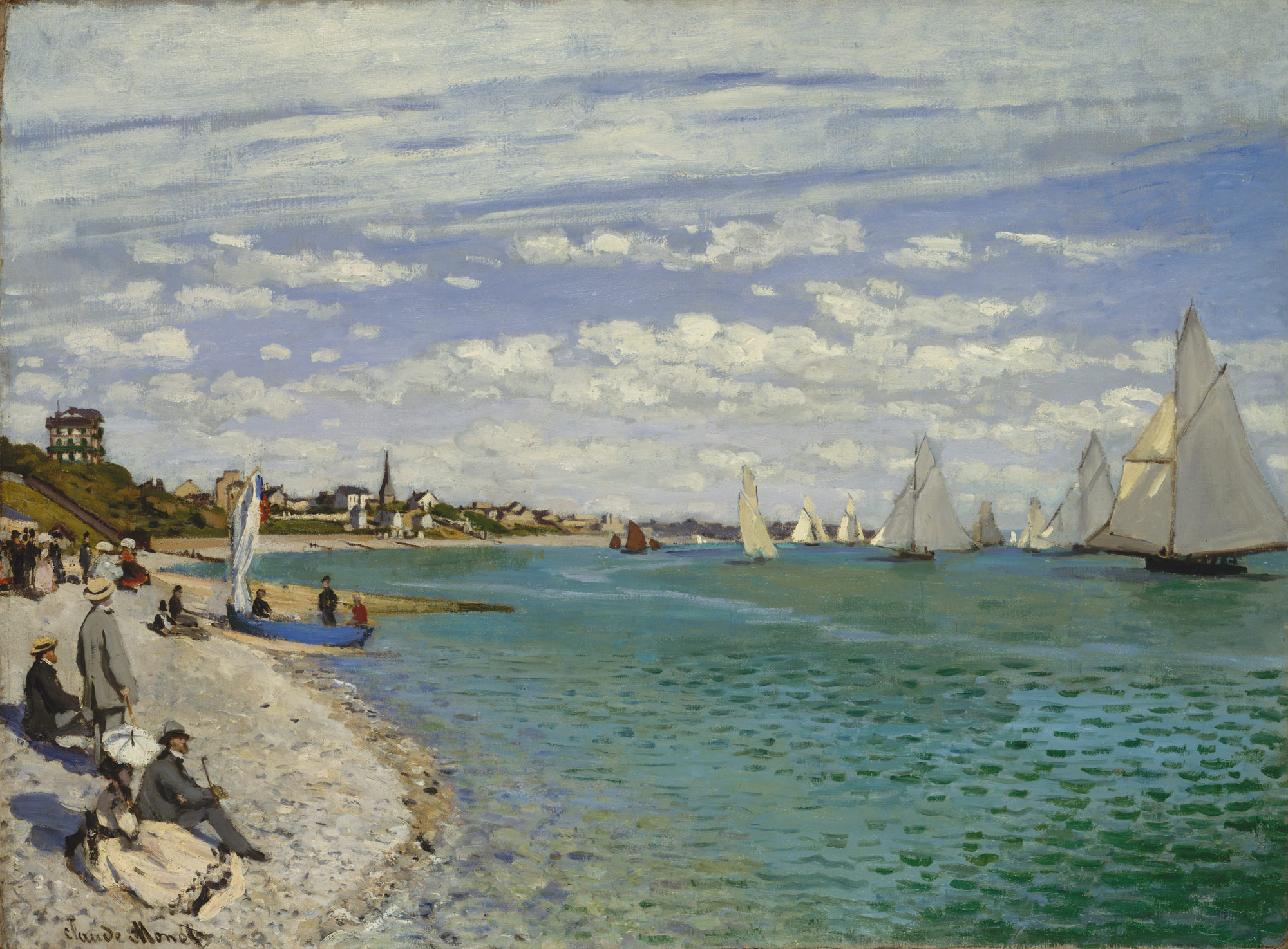 regatta at sainte adresse claude monet work of art regatta at sainte adresse