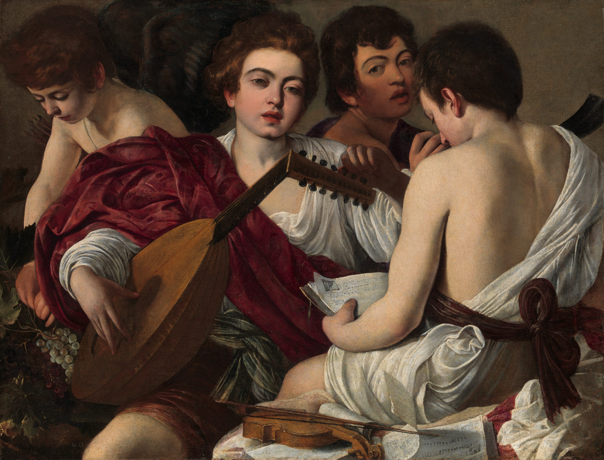 caravaggio michelangelo merisi and his followers the musicians