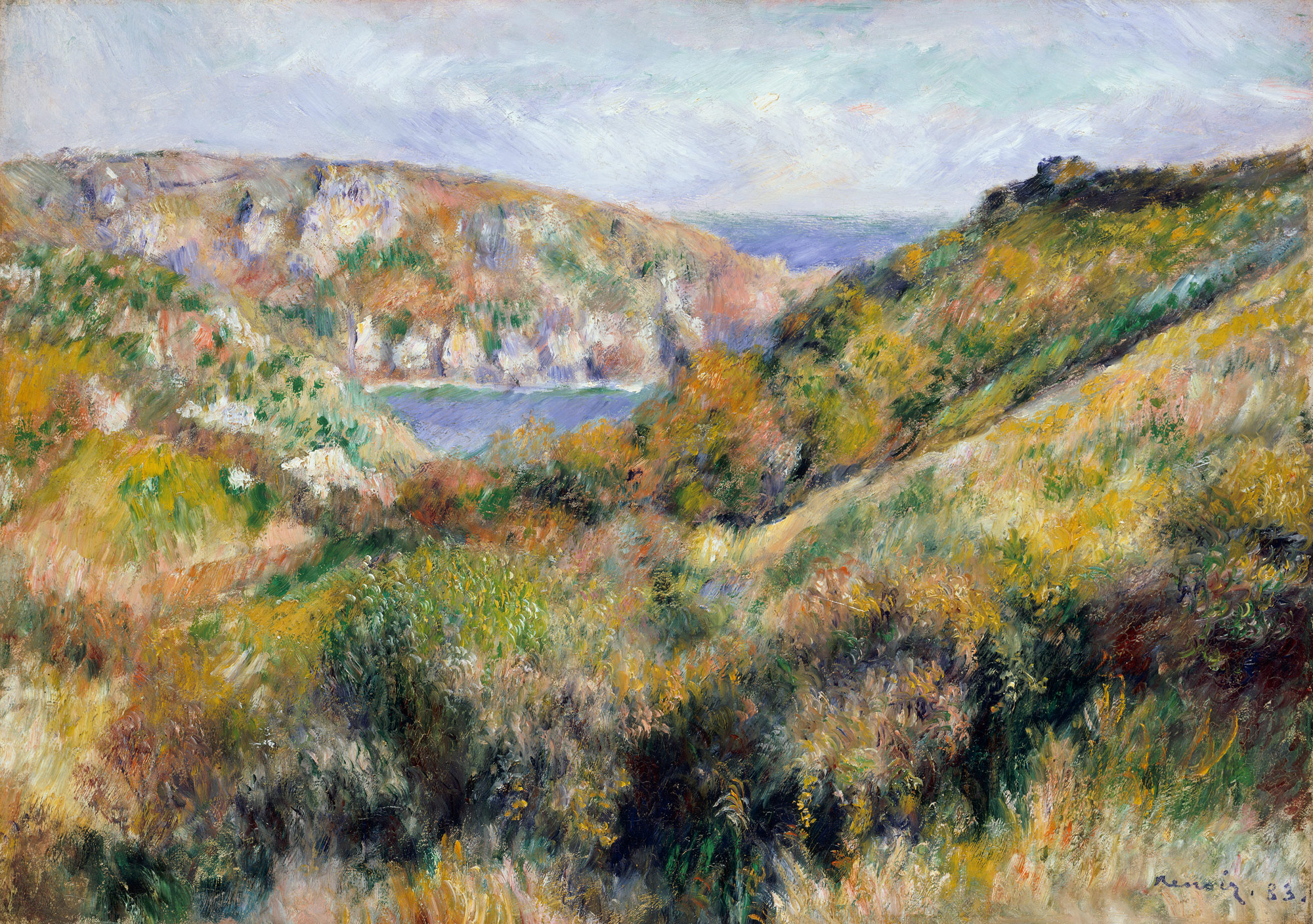 e renoir 1841 1919 essay heilbrunn timeline of art hills around the bay of moulin huet
