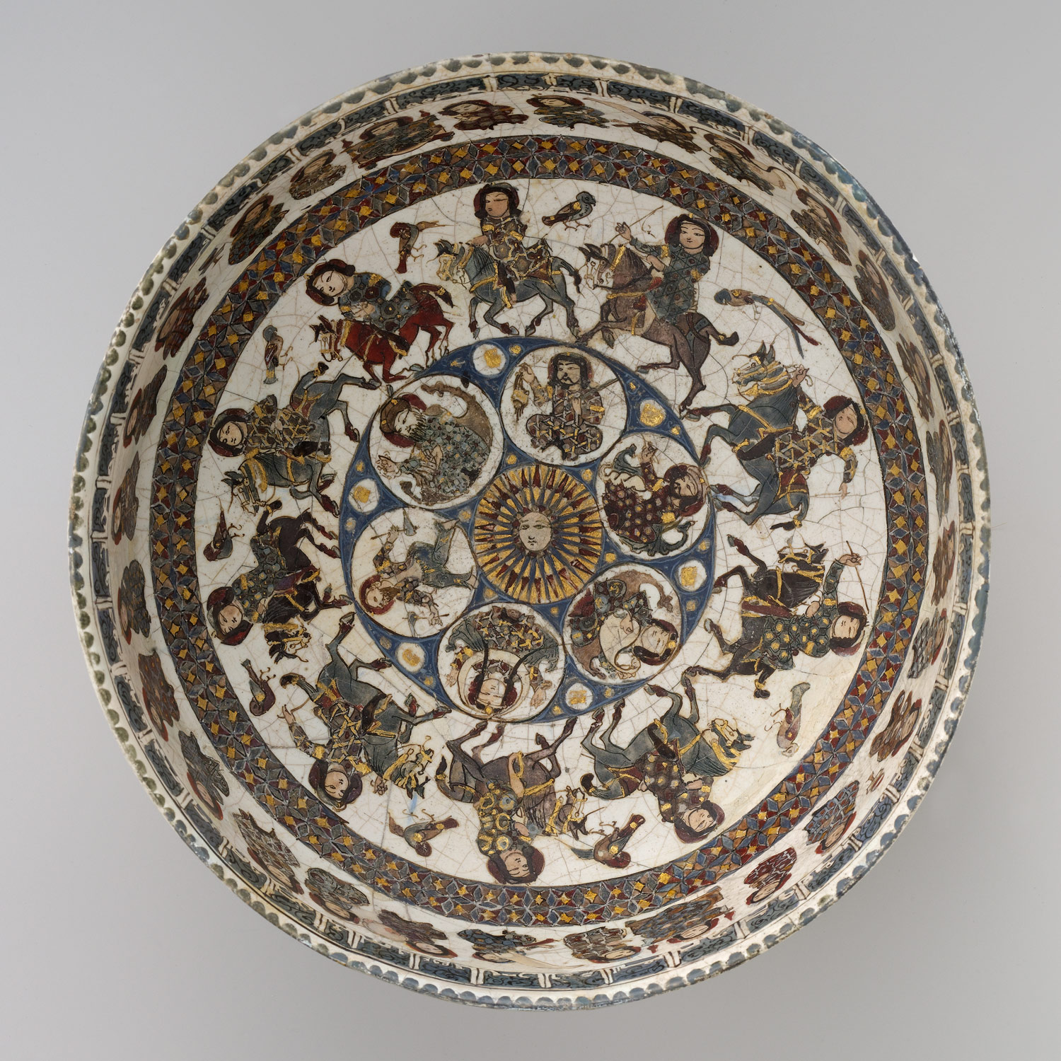 Bowl with Courtly and Astrological Motifs