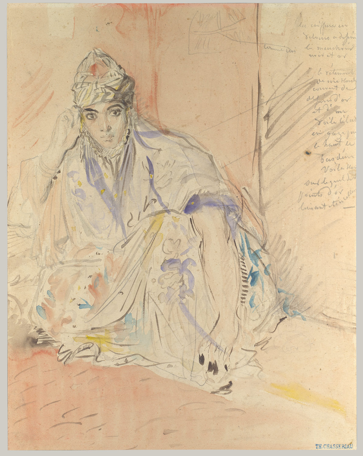 Jewish Woman of Algiers Seated on the Ground