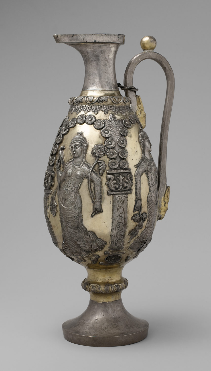 Ewer with dancing females within arcades