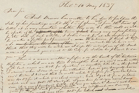 A handwritten letter dated May 10, 1837