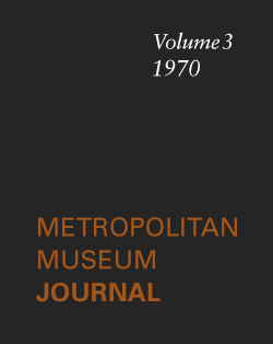 Prolegomena to a Study of the Cyprus Plates The Metropolitan Museum Journal v 3 1970