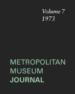 In the Shadow of Antinous The Metropolitan Museum Journal v 7 1973