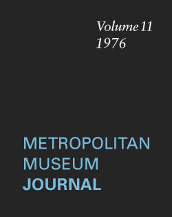 Hellenistic Find in New York The Metropolitan Museum Journal v 11 1976