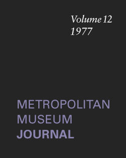 New Terracottas by Boizot and Julien The Metropolitan Museum Journal v 12 1977