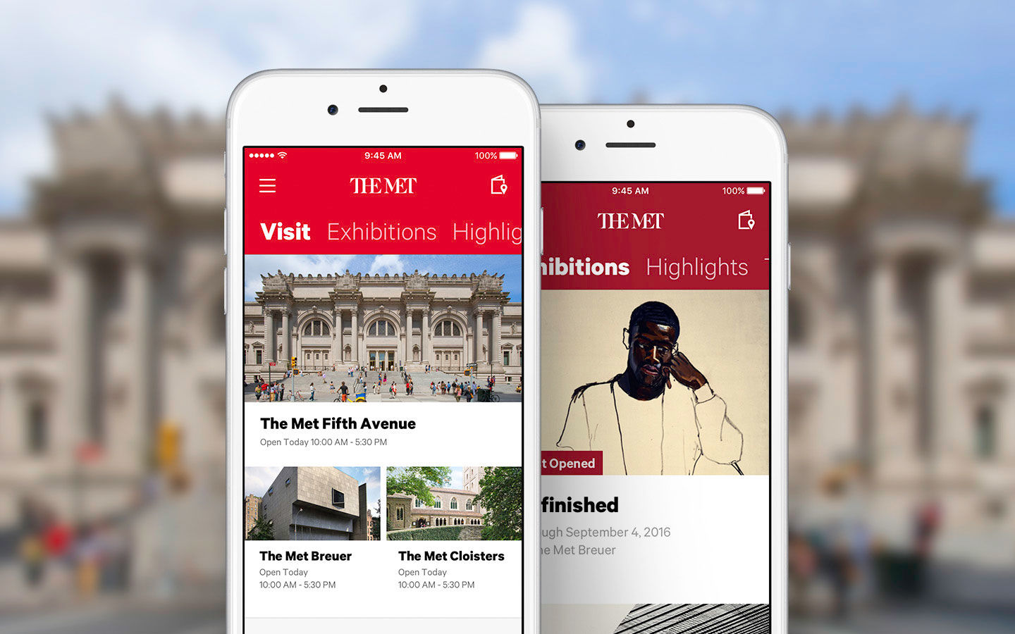 Screenshot of The Met's refreshed flagship app