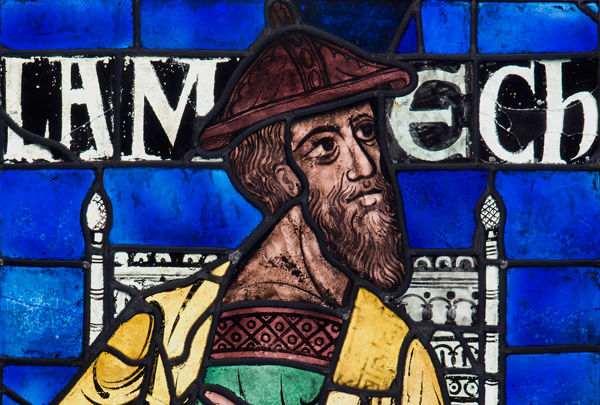 Lamech (detail), from the Ancestors of Christ Windows, Canterbury Cathedral