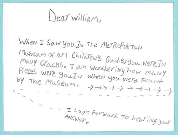 Eli's letter to William