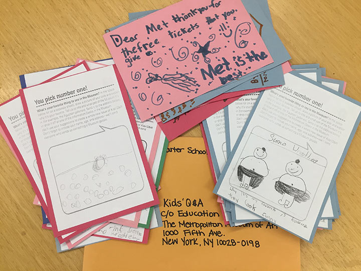Image of kids letters and drawings