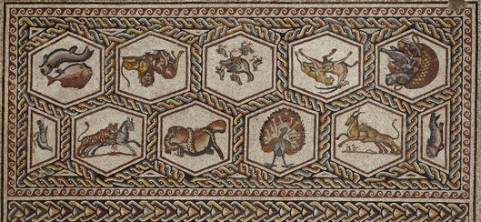 the roman mosaic from lod israel - Ancient Rome Designs