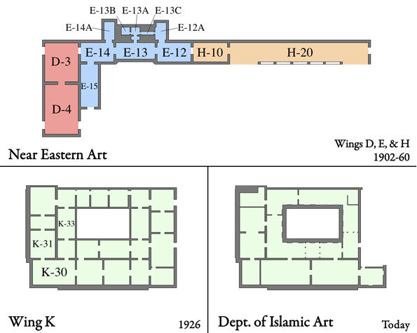 MMA Floor PLan Showing Locations of Islamic Art Displays