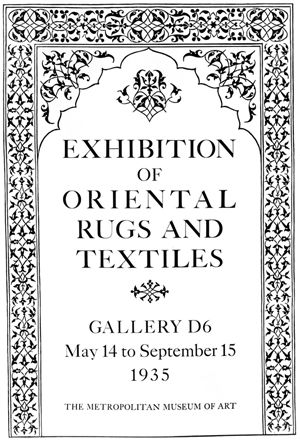 """Oriental Rugs and Textiles"" Exhibition Poster"