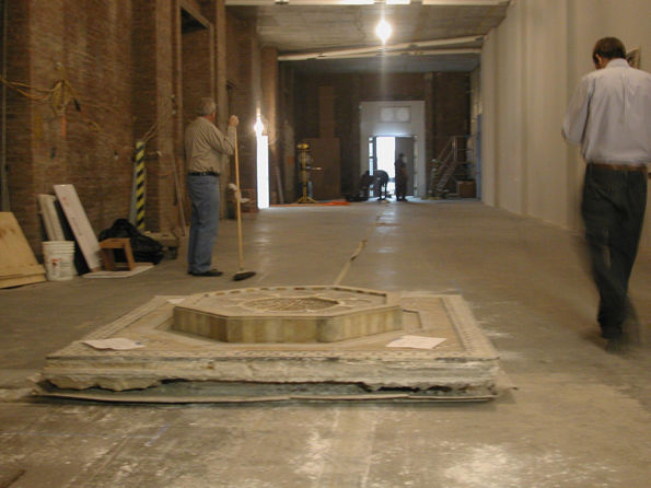 Moving of the Damascus Room Fountain, 2009