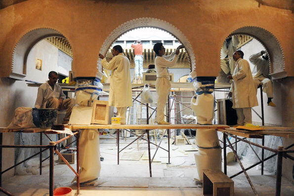Craftsmen Working in the Moroccan Court