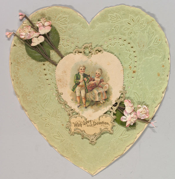 Heart-shaped valentines card, 1850–1899 | 1989.1154