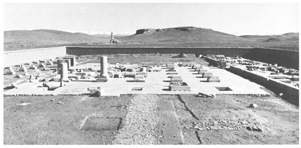 View of the Palace of Cyrus the Great at Pasargadae
