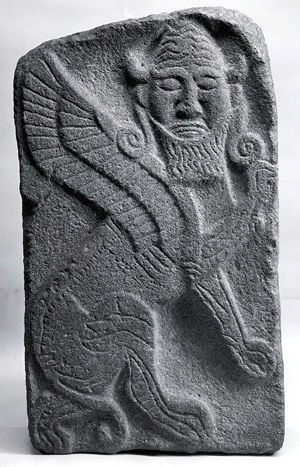 Orthostat relief: winged human-headed bull (43.135.4)
