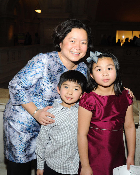 Co-chair Sharon Wee Fu and children