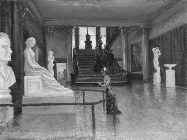 Frank Waller (American, 1842–1923) | Entrance Hall of the Metropolitan Museum of Art when in Fourteenth Street, ca. 1881 | 20.77