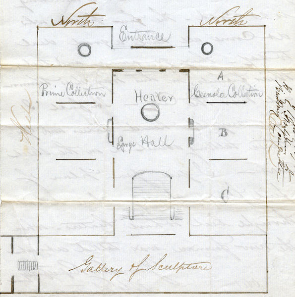 Plan of the first floor of the Douglas Mansion