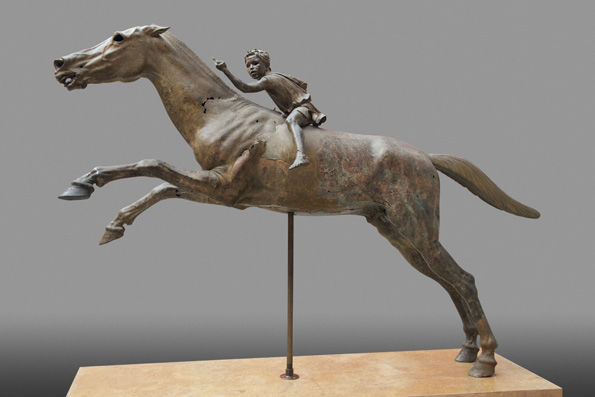 The Horse and Jockey from Artemision, Greek, Hellenistic period, ca. 150-146 B.C., bronze.