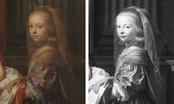 Composite of Anne Marie in both paintings