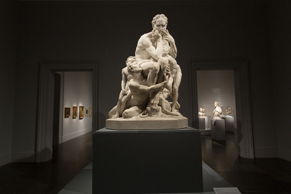 Gallery view of Carpeaux exhibition