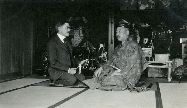 Bashford Dean in Japan with Kobori Tomoto
