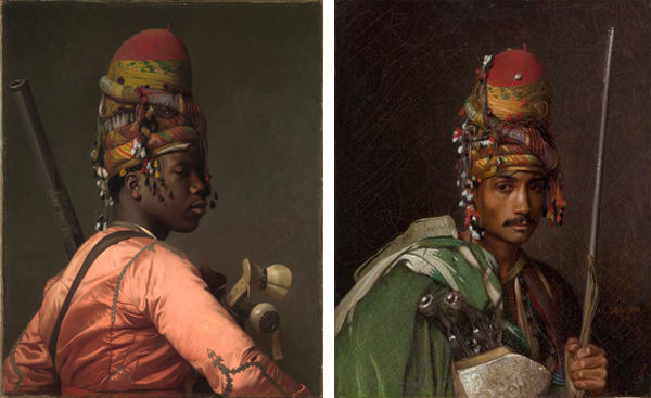 Composite of two works by Gérôme