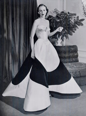 "Austine Hearst in Charles James ""Four-Leaf Clover"" Gown, ca. 1953"