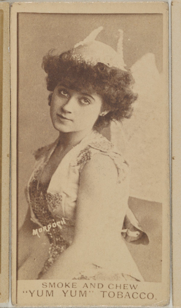 Daisy Murdoch from the Actresses series (N402) issued by August Beck & Co. to promote Yum Yum Tobacco
