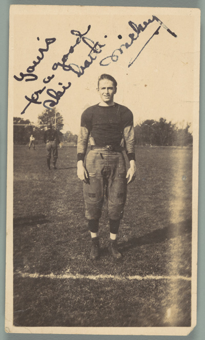 [School Friend of Walker Evans on Football Field, Loomis Institute, Windsor, Connecticut]