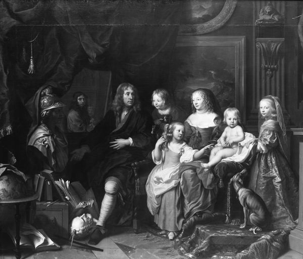 Charles Le Brun (French, 1619–1690). Everhard Jabach (1618–1695) and His Family. Formerly Kaiser-Friedrich-Museum, Berlin (destroyed in World War II)