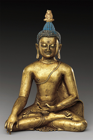 Seated Buddha Reaching Enlightenment. Central Tibet, 11th or 12th century