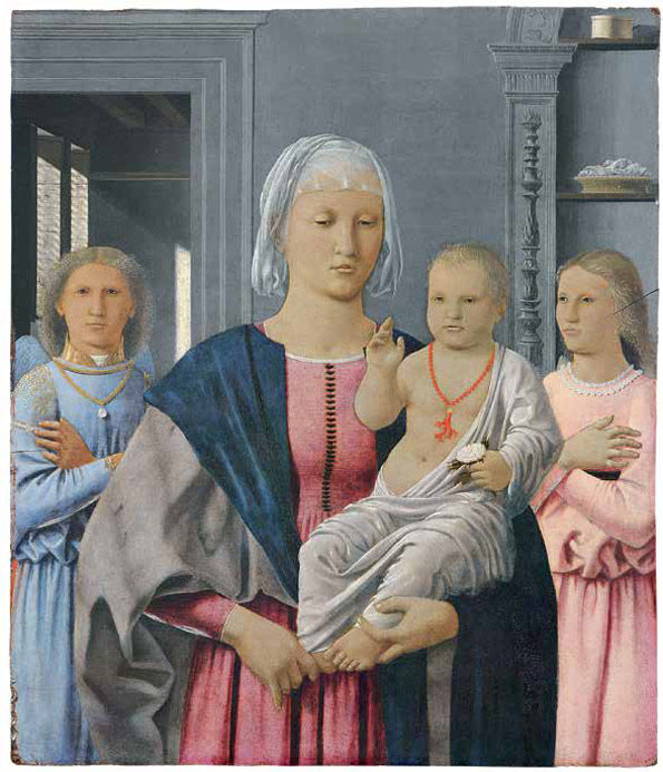 Piero della Francesca, Madonna and Child with Two Angels