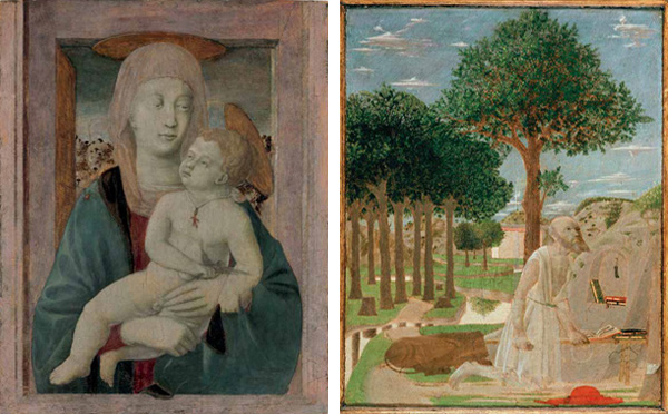 Left: Madonna and Child; Right: Saint Jerome in the Wilderness