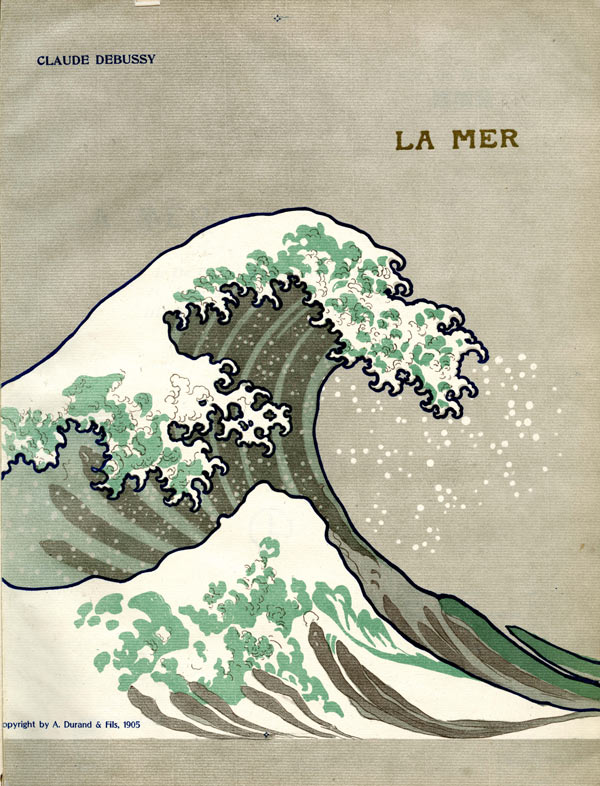 Cover of the first edition of Debussy's La Mer, published by Durand, 1905