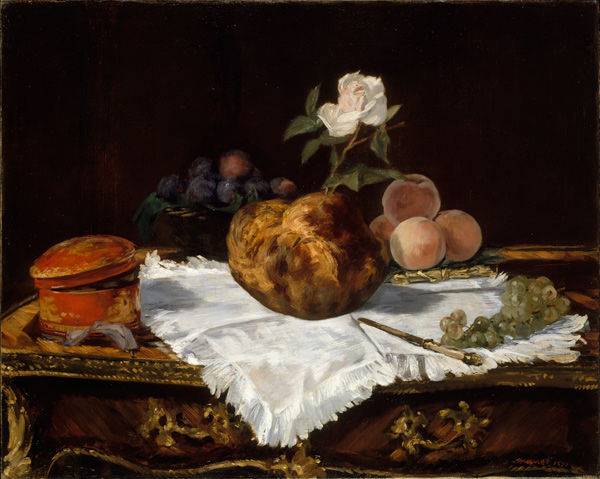 Édouard Manet (French, 1832–1883). The Brioche, 1870. Oil on canvas. The Metropolitan Museum of Art, New York, Partial and Promised Gift of an Anonymous Donor, 1991 (1991.287)