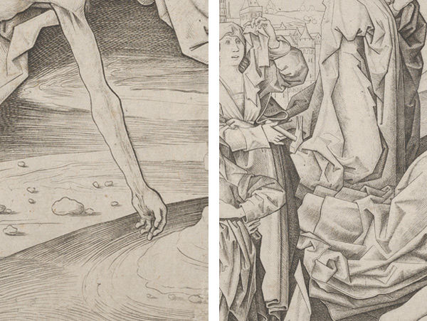 Details of Master IAM of Zwolle (Netherlandish, active ca. 1470–95), The Lamentation, ca. 1475