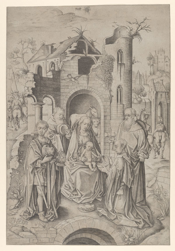 Master IAM of Zwolle (Netherlandish, active ca. 1470–95), Adoration of the Magi, ca. 1480