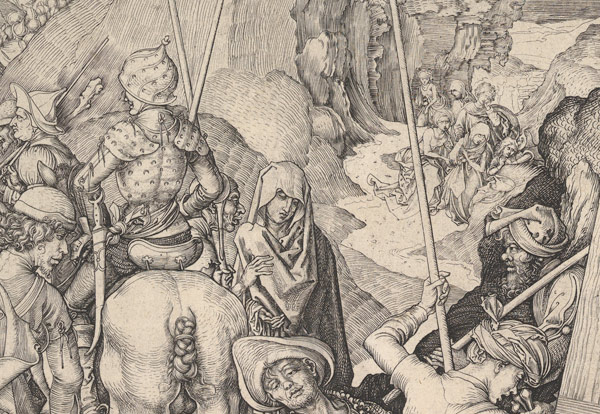 Detail of Martin Schongauer (German, ca. 1435/50–1491). Christ Carrying the Cross, ca. 1475–ca. 1480