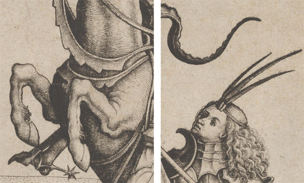 Details of Master IAM of Zwolle (Netherlandish, active ca. 1470–95), St. George and the Dragon, ca. 1485–ca. 1495