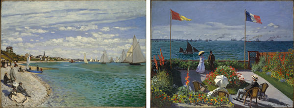 Composite image of two Monet paintings